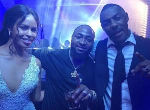 Davido with Idris Elba and wife