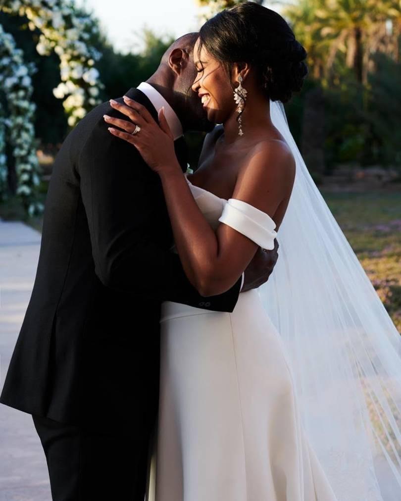 Idris Elba and Sabrina Dhowre wedding picture