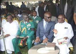 Picture of dignitaries at Ejoor's burial