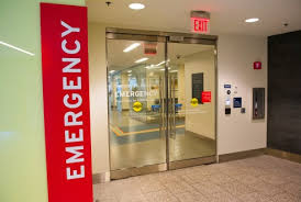 Entrance into the Emergency section of a hospital