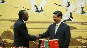 Image of Uhuru Kenyatta and Xi Jinping