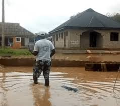 Image of flooding in Pa James' house