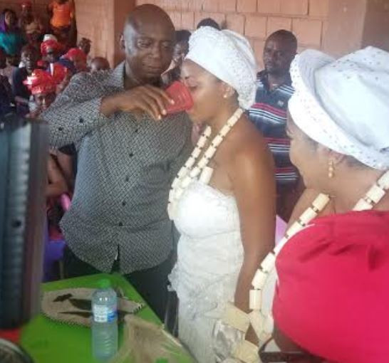 Regina Daniels's wedding picture