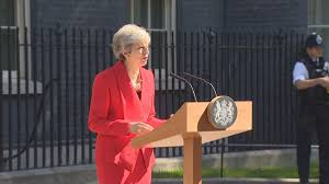 Image of Theresa May at Downing Street