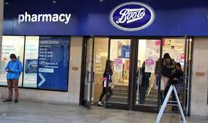 Image of Boots Pharmacy.