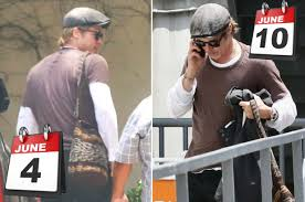 Image of Brad Pitt wearing same outfit all week.