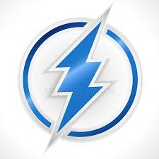 An electric shock emblem