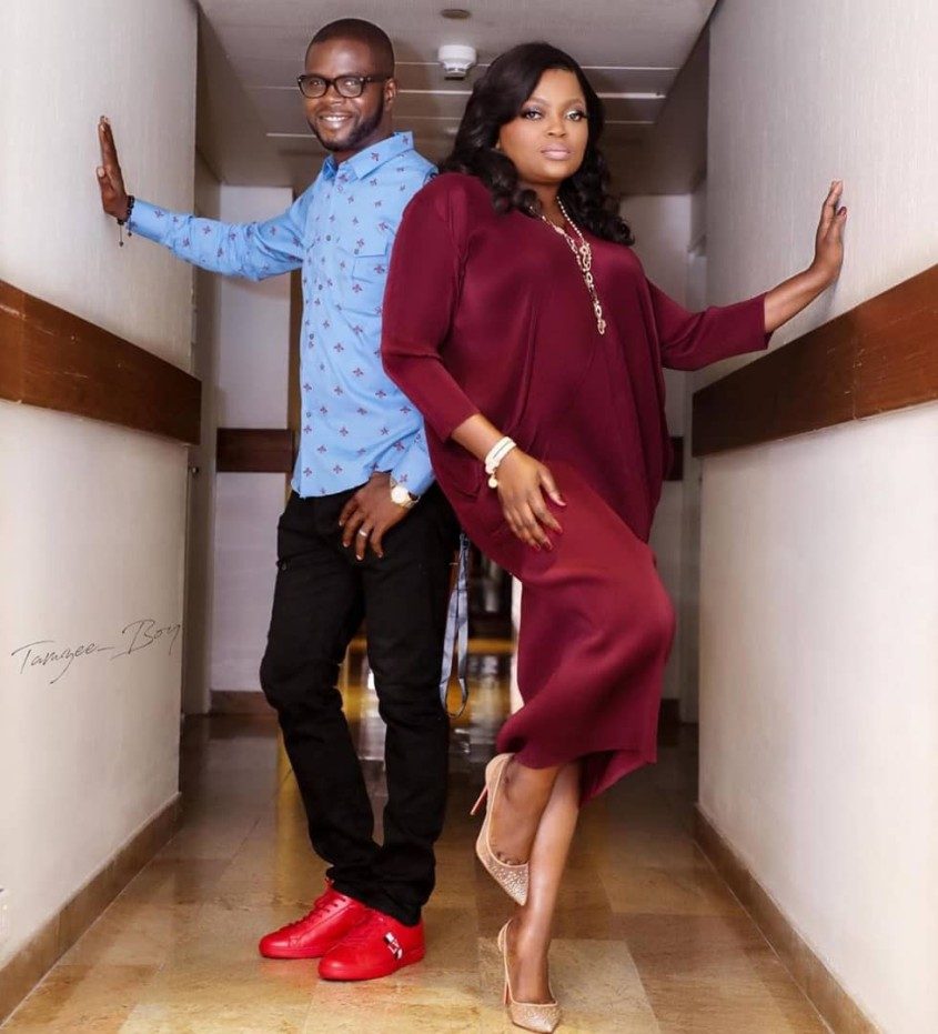 Funke Akindele, with hubby, JJC Skillz at Falz's concert