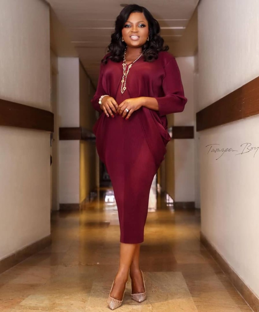Picture of Funke Akindele at Falz's concert