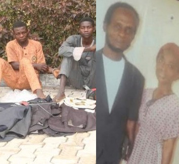 Image of two security guards who kill their Ghanaian boss, their boss and daughter