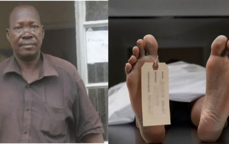 Image of a Ugandan man who has worked in the mortuary for more than 32 years