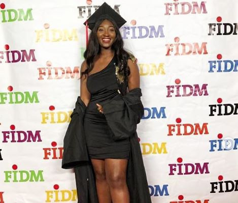 Image of Omotola Jalade's daughter as she baggs two degrees at 19!