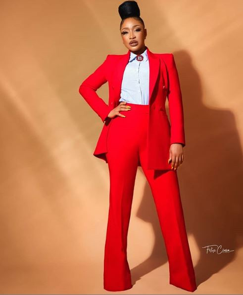 Image of Tonto Dike as she celebrates her 34th birthday