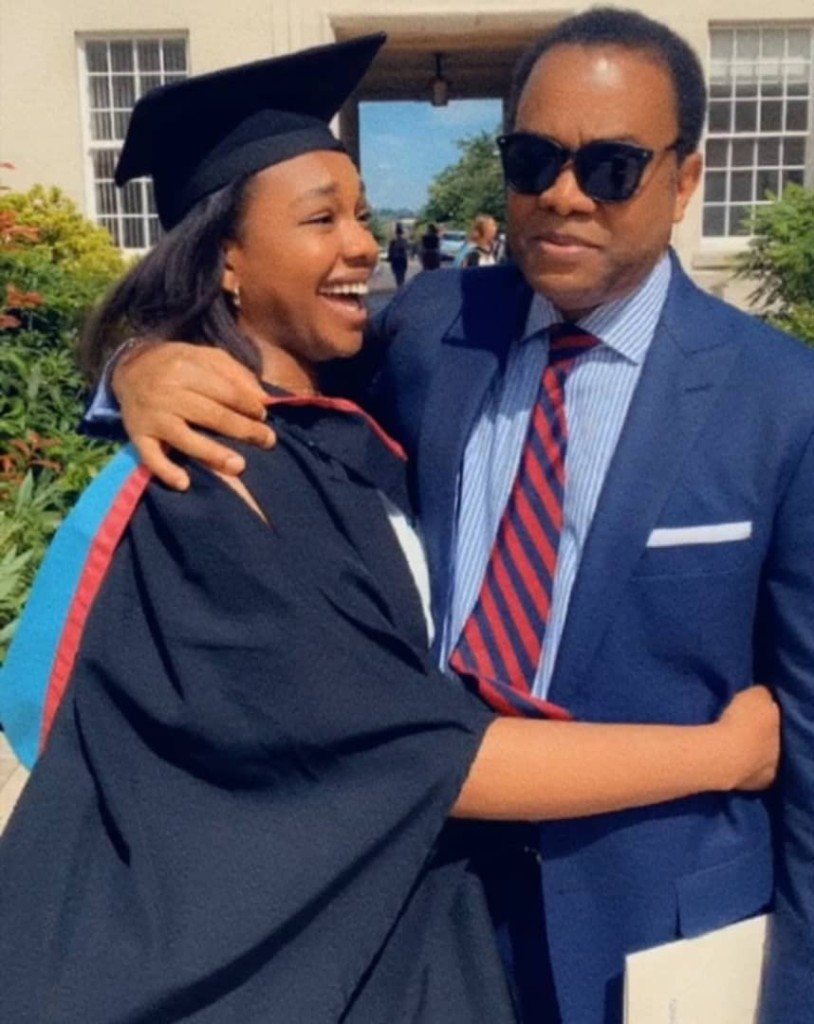 Donald Duke's daughter, Donna graduates from a UK university.