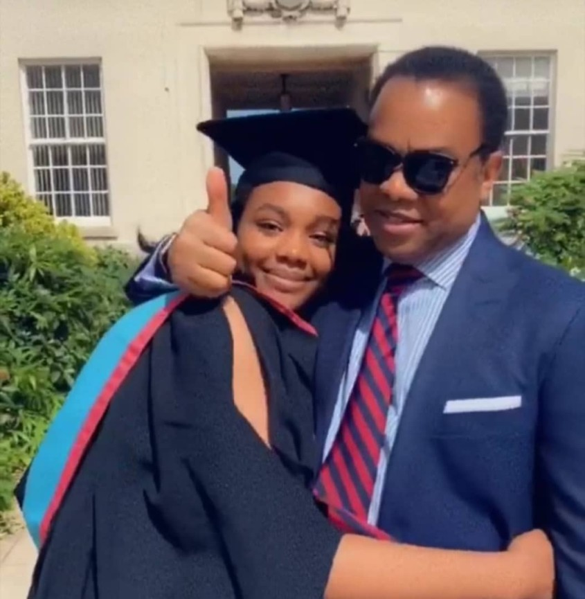 Donald Duke's daughter, Donna graduates from a UK university.