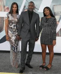 Idris Elba at Hobbs and Shaw with wife and daughter