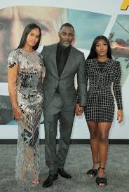 Idris Elba at Hobbs and Shaw with wife and daughter.