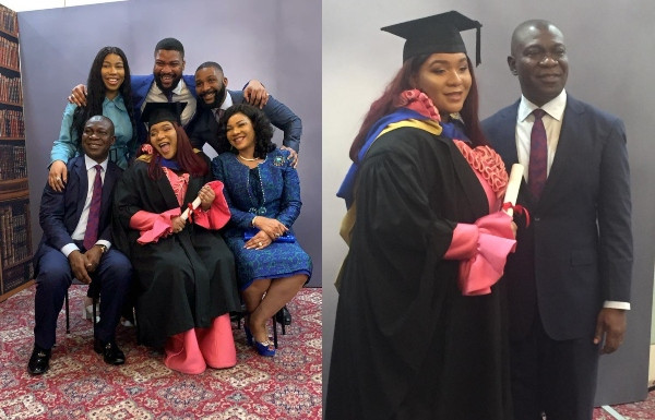 Senator Ike Ekweremadu's daughter graduates from a foreign university.
