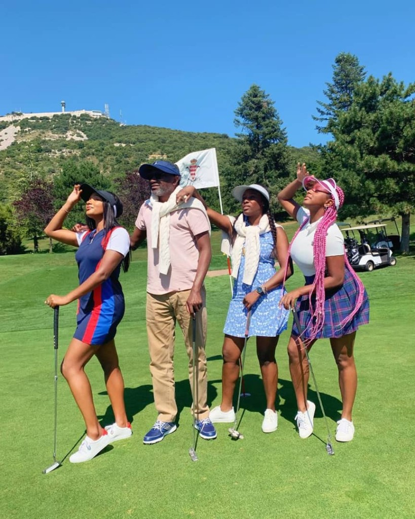 Otedola with daughters on vacation at Monaco