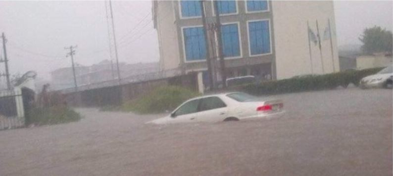 Owerri metropolis flooded following Friday downpour