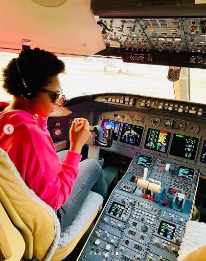 Regina Daniels shares photos of new jet of hubby, Ned Nwoko.