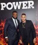 Rotimi Akinosho and 50 Cent.