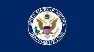 U.S State Department emblem.