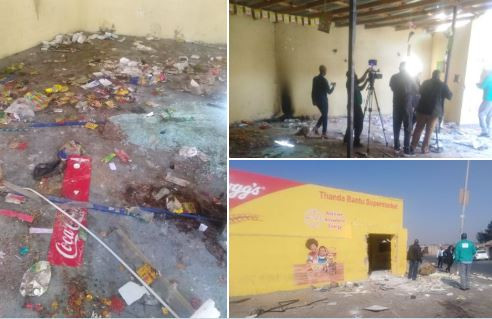 Latest news on the looting of foreign-owned shops in South Africa.
