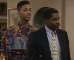 John Wesley and Will Smith in the Fresh Prince of Bel Air sitcom,