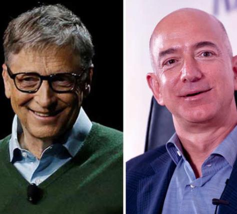 Bill Gates and Jeff Bezo