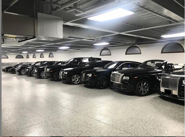 Floyd Mayweather garage
