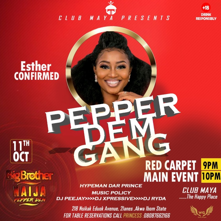 Esther, Big Brother Pepper Dem Season Four Edition.