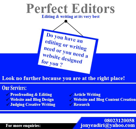 Perfect Editors advert banner