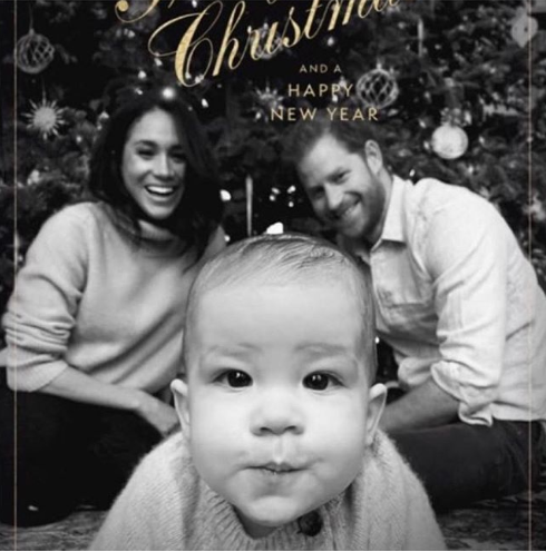 Prince Harry and Meghan Markle release Christmas card.