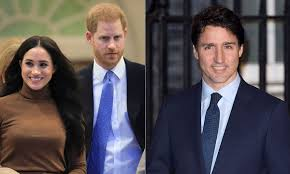 Maghan Markle and Justin Trudeau