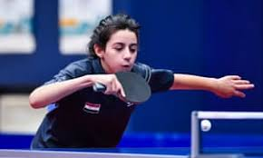 Hend Zaza, 11-year-old Syrian table tennis player qualifies for the Olympics