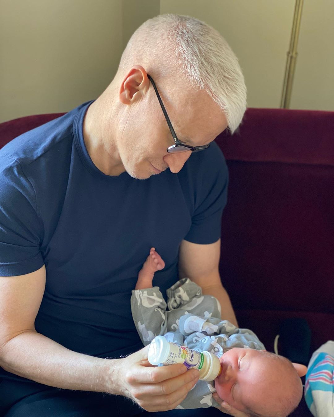 Anderson Cooper and his baby boy